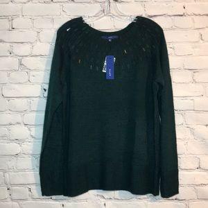 NWT Apt.9 Ponderosa Pine Sequin Women's XL Sweater